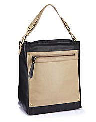 Colour Block Shoulder Handbag