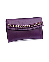 Chain Trim Clutch Bag