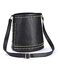 Stud Detail Barrel Handbag