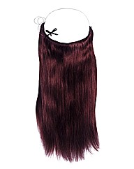 Halo 16 Inch Human Hair Extensions Plum