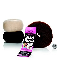 Sleep In Rollers Big Hair Bun Ring Black