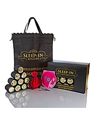 Sleep In Rollers Black And Gold Glitter