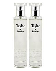 Taylors Of London 50ml EDT Jasmine BOGOF