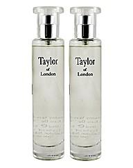 Taylors Of London Orchid 50ml EDT BOGOF