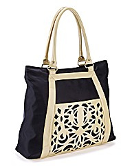 Cutwork Detail Shoulder Handbag