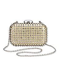 Diamante Detail Hard Case Clutch