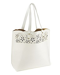 Cutwork Detail Shopper