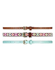 Pack Of Three Belts