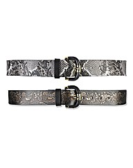 Pack Of Two Belts