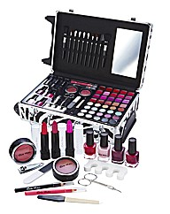66- Piece Zebra Print Trolley Case