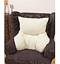 Plump Faux Sheepskin Back Support Pillow