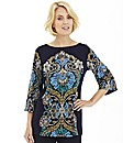 Nightingales Scarf Print Jersey Tunic