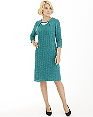 Nightingales Textured Dress L39ins