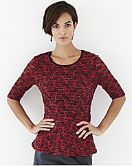 Nightingales Peplum Lace Top