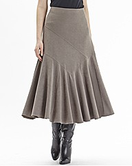 Nightingales Cut About Mock Suede Skirt