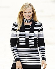 Nightingales Stripe Sweater and Scarf