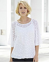 Nightingales Ivory Spot Blouse