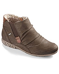 Relife Warm Lined Zip Ankle Boots EEE
