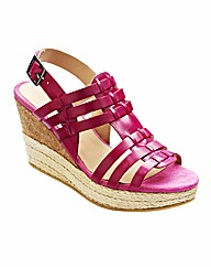 Jeffrey & Paula T-Bar Wedge Sandals D