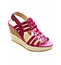 Jeffrey & Paula T-Bar Wedge Sandals E
