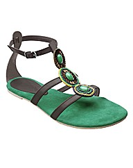 Emotion Beaded Sandals EEE Fit