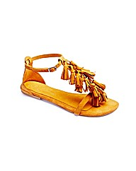 Joe Browns Fringe Sandals EEE Fit