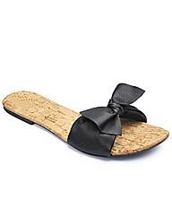 Simply Be Bow Trim Sandal- E Fit