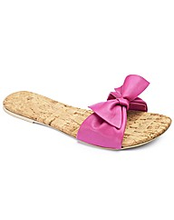 Simply Be Bow Trim Sandal- E Fit