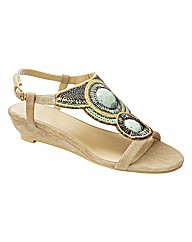 Joe Browns Beaded Wedge Sandals E Fit