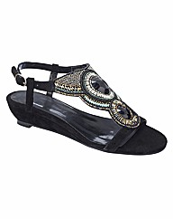 Joe Browns Beaded Wedge Sandals EEE Fit
