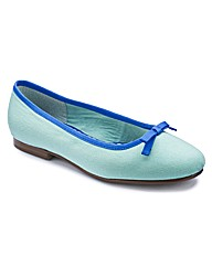 Heavenly Soles Bow Ballerina Pumps E Fit