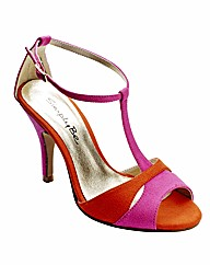 Simply Be Colour Block Sandals E Fit
