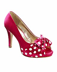 Simply Be Peep Toe Platform Shoes EEE