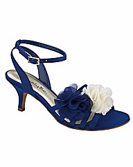 Simply Be Flower Strappy Shoes E Fit