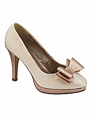 Simply Be Bow Trim Court Shoes E Fit