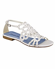 Simply Be Flat Sandals E Fit