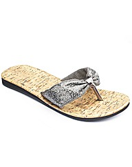 Simply Be Toepost Sandal E Fit