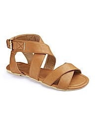 Simply Be Gladiator Sandals EEE Fit