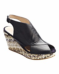 Emotion Slingback Wedge Shoes E Fit