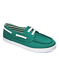 Simply Be Canvas Boat Shoe- EEE Fit