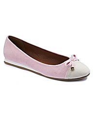 Simply Be Toe Cap Ballerina Pumps EEE