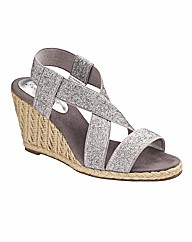 Heavenly Soles Wedge Sandals EEE Fit