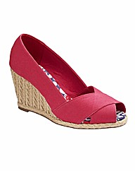 Simply Be Cross Over Wedge Shoes EEE Fit