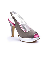 Bespoke Peep Toe Platform Shoes E Fit