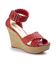 Bespoke Plaited Wedge Sandals D Fit