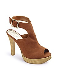 Grazia Peep Toe Platform Shoes E Fit