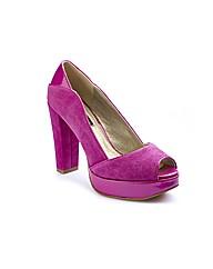 Anna Scholz Peep Toe Platform Shoes EEE