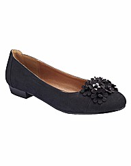 Natures Own Flower Ballerina Pumps E Fit