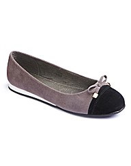 Simply Be Toe Cap Ballerina Pumps E Fit