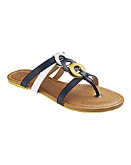 Kickers Leather Toe Post Sandals